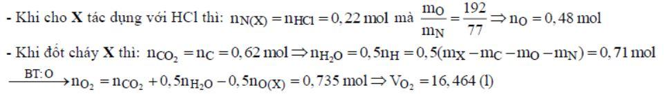 Để tác dụng vừa đủ với 19,62 gam hỗn hợp X cần 220 ml dung dịch HCl 1M