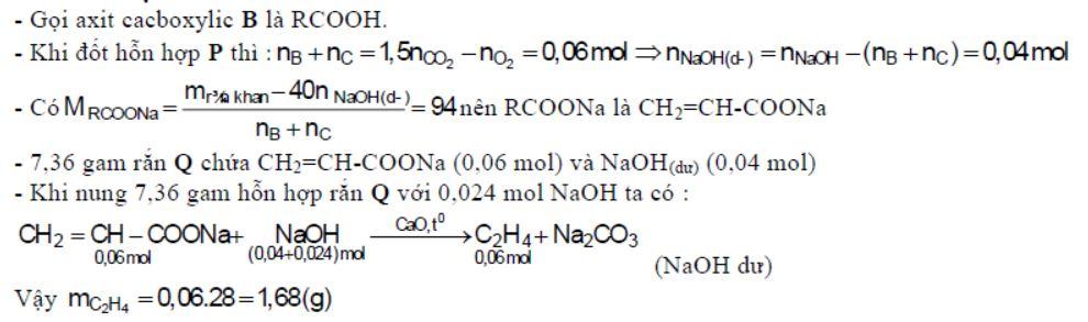 Hỗn hợp P gồm ancol A, axit cacboxylic B (đều no, đơn chức, mạch hở) và este C tạo ra từ A và B