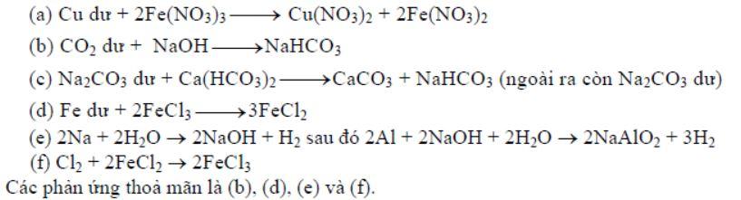 Sau khi các phản ứng xảy ra hoàn toàn, dung dịch thu được chứa một muối tan là